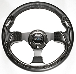 NRG - Pilota Series Sport Steering Wheel - 320mm - Leather with Real Carbon Fiber Inserts